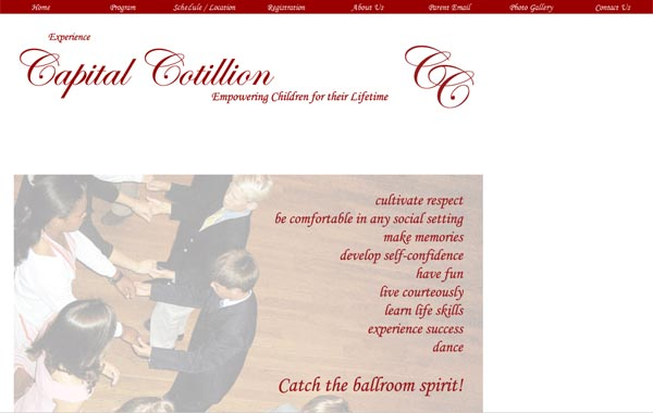 capital cotillion old website