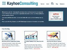 Kayhoe Consulting website