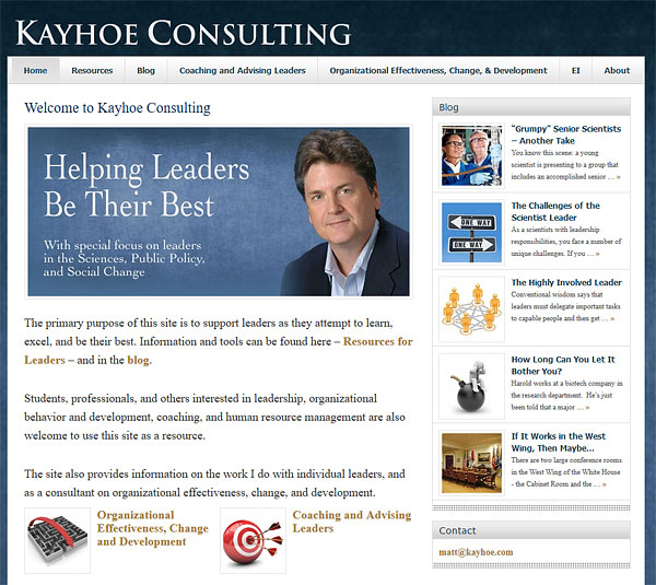 Old website for Kayhoe Consulting